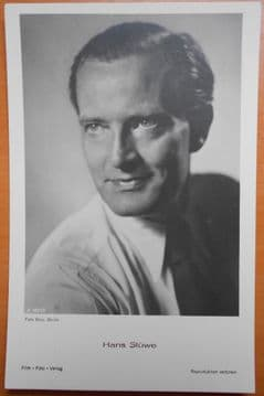 Hans Stuwe, German Actor, Vintage