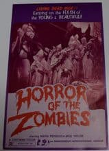 Horror of the Zombies 1974 Press Sheet