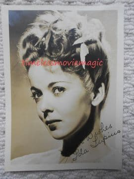 Original Autographs for sale -Ida Lupino | Hollywood Autographs