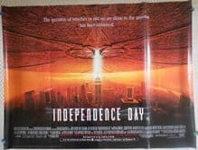 Independence Day, Original UK Quad Poster, Will Smith, Bill Pulman, '96