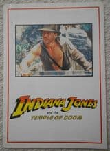 Indiana Jones and the Temple of Doom, 4 Page Sypnosis Sheet, Harrison Ford, '84