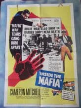 Inside the Mafia, Movie Poster, Cameron Mitchell, Robert Strauss, '59