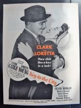 Key to the City (1950) - Clark Gable | Vintage Trade Advert (1)