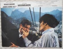 Moonraker, Original French still, Roger Moore, James Bond fights Jaws, '79 (JB45)