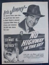 No Highway in the Sky (1951) - Marlene Dietrich | Vintage Trade Ad