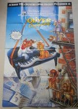 "Oliver and Company, Original HUGE 60"" X 40"" Poster, Animation, '88"