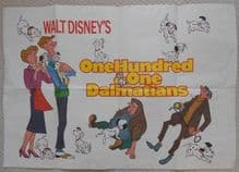 One Hundred and One Dalmatians, Original UK Poster, r70s