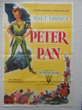Peter Pan, Original Argentinian Movie Poster, Disney Classic! '53