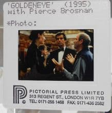 Pierce Brosnan filming shot? Transparency slide 35mm Photo James Bond Goldeneye