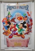 Prince and the Pauper, Original DS Movie Poster, Walt Disney, Mickey Mouse, '90