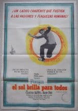 Raisin in the Sun (1961) - Sidney Poitier | Argentinian Movie Poster