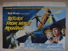 Return from Witch Mountain Film Poster UK Quad