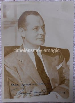 Robert Montgomery Hollywood Actor - Original Autograph