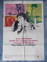 Say Hello to Yesterday, Movie Poster, Jean Simmons, Leonard Whiting, '71