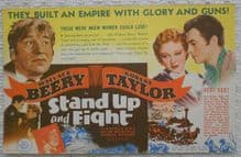 Stand Up and Fight, Flyer/Herald, Wallace Beery, Robert Taylor, '39