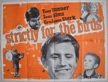Strictly for the Birds, Original UK Quad Poster, Joan Sims, Tony Tanner, 1963