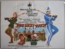 That Lucky Touch, Original UK Quad Poster, Roger Moore, Susannah York, '75