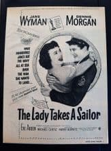 The Lady Takes a Sailor (1949) - Jane Wyman | Vintage Trade Ad