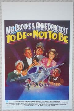 To Be or Not To Be, Original Belgian Movie Poster, Mel Brooks, '83 (VG++)