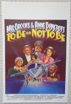 To Be or Not To Be, Original Belgian Movie Poster, Mel Brooks, Anne Bancroft '83