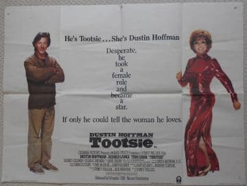 Tootsie, Original UK Quad Poster, Dustin Hoffman, '83
