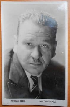 Wallace Beery, Actor, Vintage MGM Postcard c30-40s
