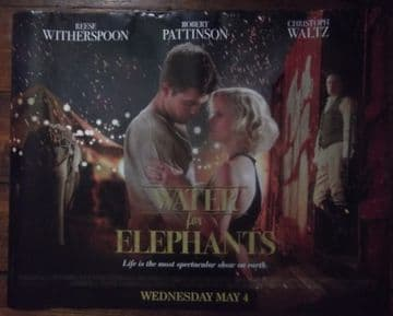 Water for Elephants, UK Quad ROLLED Advance Poster, Pattinson , '11