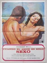 When Love is Lust, Cuando El Amor Es Solo Sexo, Original Spanish Poster, '73