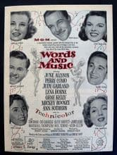 Words and Music (1948) - Judy Garland, Gene Kelly | Vintage Trade Ad