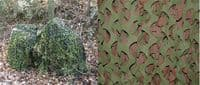 ULTRALIGHT 3D WOODLAND CAMO SCRIM NETTING 12FT X 8FT