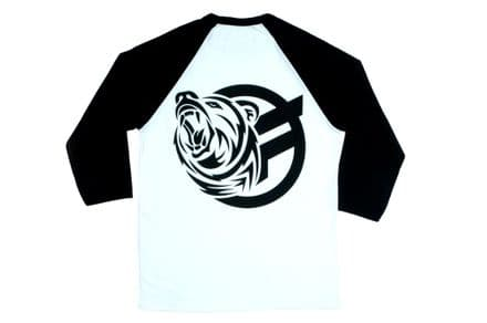 Federal Mark Love 3/4 Sleeve T-Shirt - White With Black Sleeves Large