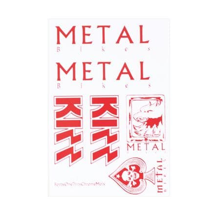 Metal Collectors Kizz Sticker Sheet Grey/Red