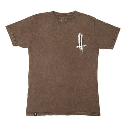 The Trip Mineral Wash Slime Life T-Shirt - Brown Small