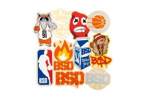 BSD 10 Pack Mixed Sticker In Bag *2018 Designs*