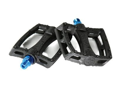 Colony Fantastic Plastic Pedals - Black with Blue