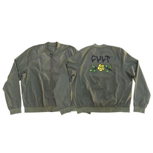 Cult In Bloom Bomber Jacket - Military Green Large