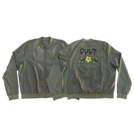 Cult In Bloom Bomber Jacket - Military Green XL