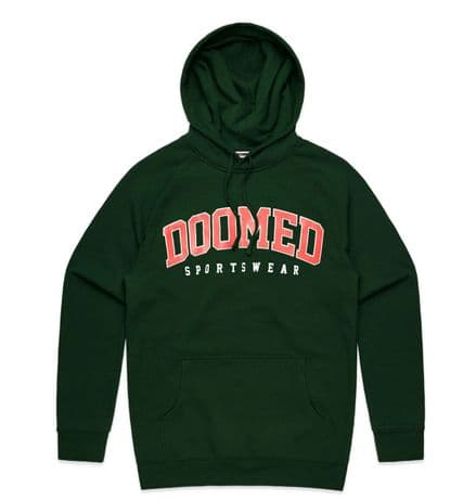 Doomed Drop out Hoodie Forest Green Medium