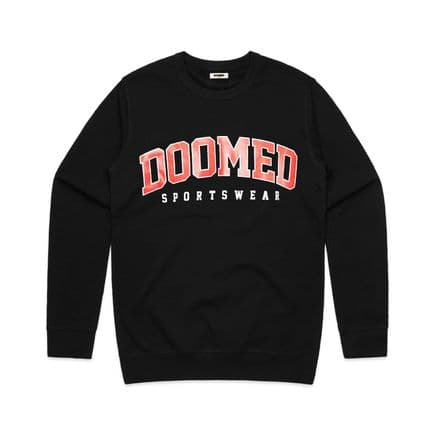 Doomed Drop Out Sweater Black XL