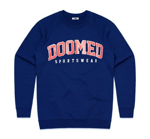 Doomed Drop Out Sweater Royal Blue Large