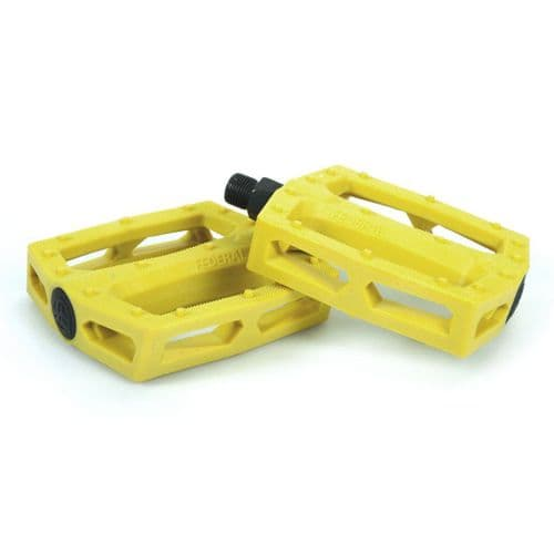 """Federal Command Plastic Pedal - Yellow 9/16"""""""