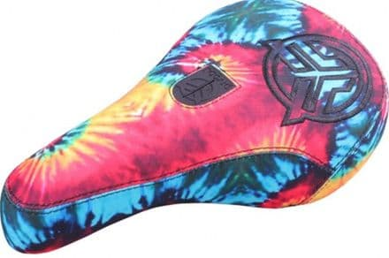 Federal Mid Pivotal Logo Seat - Tie Dye With Thicker Black Embroidery