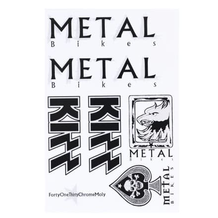Metal 2019 Kizz Sticker Sheet Silver/Black