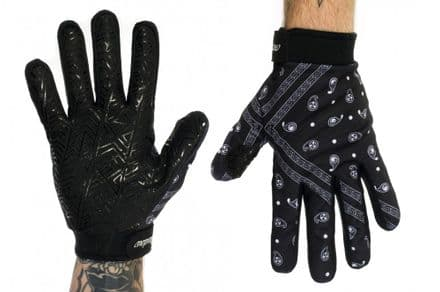 Shadow Paisley Conspire Gloves - Black Small