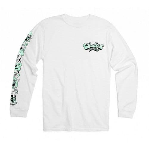 Shadow Shades L/S T-Shirt - White Large