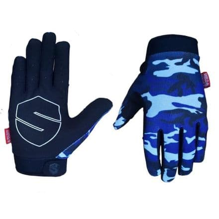 Shield Protectives Lite Gloves - Blue Camo - Large