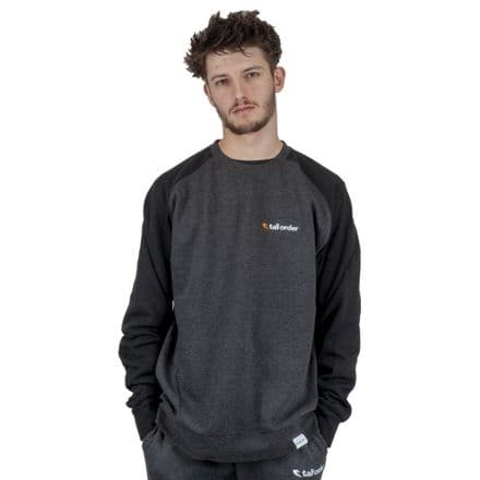 Tall Order Embroidered Logo Crew Sweatshirt - Black / Grey Large