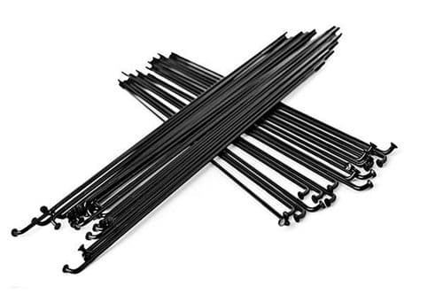 Total BMX Double Butted Spokes (Pack Of 40) - Black 182mm