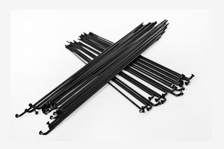 Total BMX Double Butted Spokes (Pack Of 40) - Black 184mm
