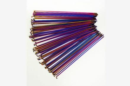 Total BMX Double Butted Spokes (Pack Of 40) - Rainbow 184mm